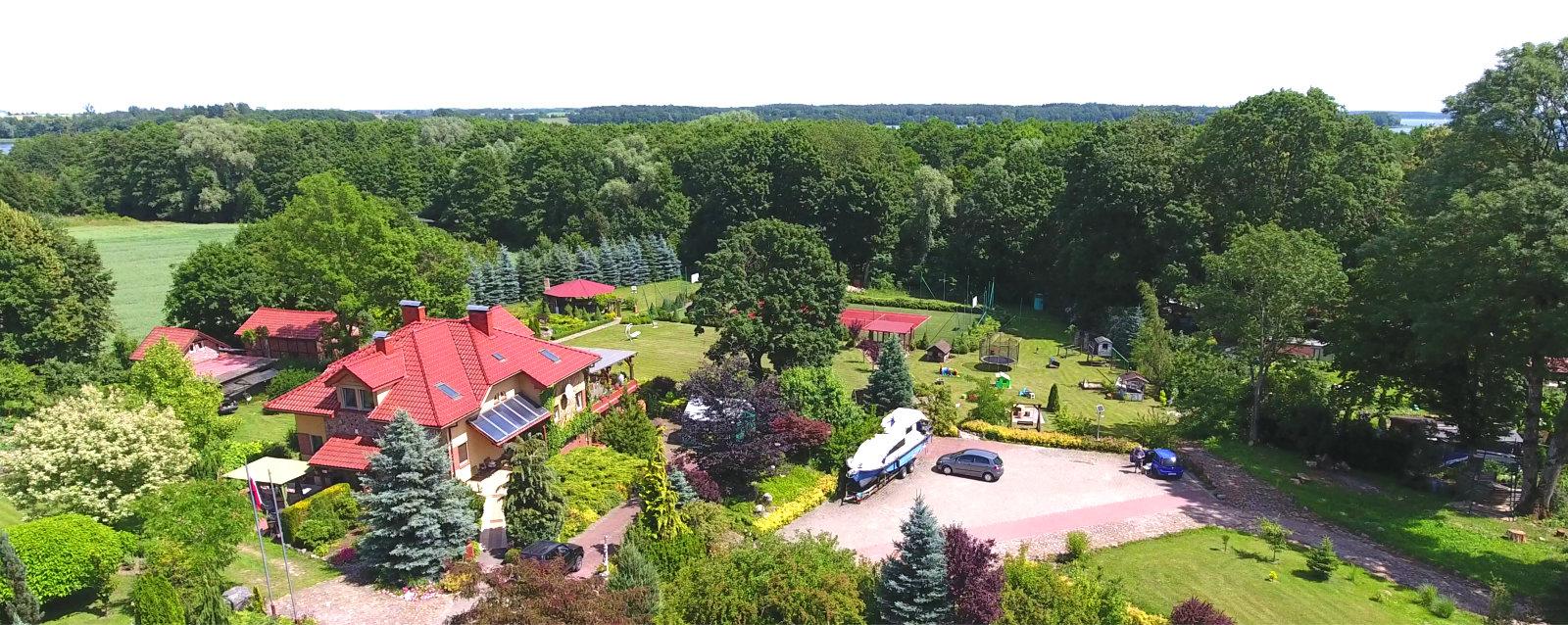 Villa Przystań, widok z lotu ptaka